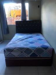 Vendo cama box de casal com cabeceira