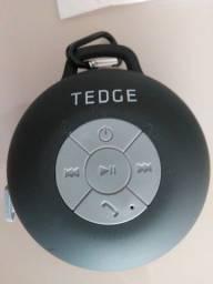 Alto-falante Tedge portátil com bluetooth preto
