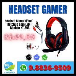 Headset Gamer com Led HD bass