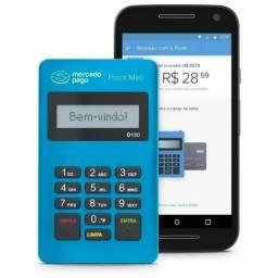 Maquina maquininha crédito e débito mini point mercado pago