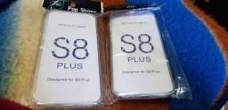 2 capinhas 360 transparente Samsung S8 PLUS