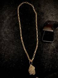 Cordão de ouro 18k 750 21g