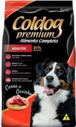 Racao premium coldog 25kg 150,00 avista