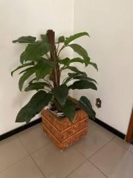 Planta Artificial + Vaso Cachepot