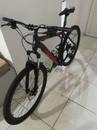 Bike aro 29 Moutain bike + capacete com led + rolo treino + sensor velocidade