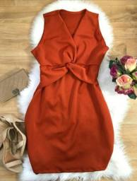 Vestido Tubinho Plus Size Vermelho