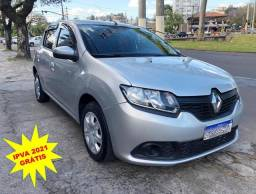 Renault Sandero 1.0 Authentique 2015 - Z.E.R.O.E.N.T.R.A.D.A - Bruno Automóveis