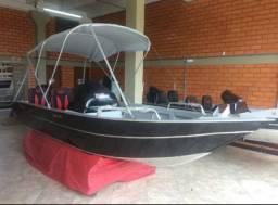 Lancha Fotboat Advance 520 com motor 60Hp 4t Mercury