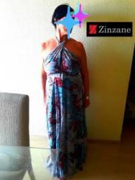 Vestido longo Zinzane Musseline tamanho G (44 a 46)
