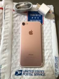 IPhone 7 rosé 32GB novíssimo ACEITO CARTÃO