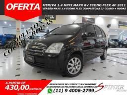 Chevrolet Meriva 1.4 Mpfi Maxx 8v Econo.Flex 4p Completa C/ Couro + Rodas - 2011