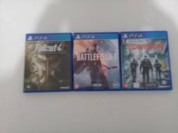 Fallout 4+Battlefield 1+The Division PS4