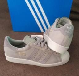 0d5d56fbf3e Tênis Adidas Originals Superstar 80s Preto Tam 39   42 (Original novo sem  ...
