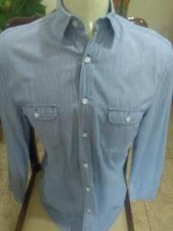 8898e7c4fd978 Camisa Social Luigi Bertolli - Camiseta Masculina - Tamanho P - Aceito  Cartão