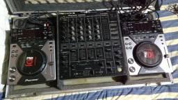 Case + cdj + mixer Pioneer