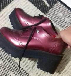 Sapato Oxford Feminino Via Marte - Vinho N°35  100 92d0106e6983d