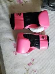 Luva de Boxe Feminina - Naja Colors 10 Oz (Novíssima)
