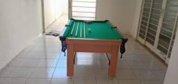 Mesa Tentação de Bilhar Cor Cerejeira Tecido Verde Mod. IBTR4603