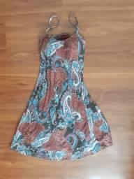 Vestido estampado + Brinde -<br>Entrego