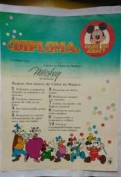Clube do Mickey - Gibis - Diploma - Carteirinha