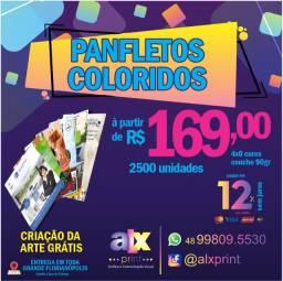 2500 panfletos coloridos 10x14 - Arte grátis e parcelamento em 12x s/juros no cartão