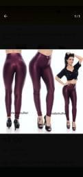 2 calças cirrê, púrpura e preta novas.
