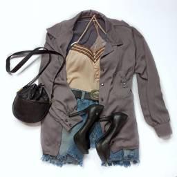 Camisa, Regata, Shorts ou Peep Toe