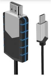 Adaptador USB Tipo C para HDMI - Mhl 1080p cabo para ligar Smartphone na TV (Crome cast)<br>