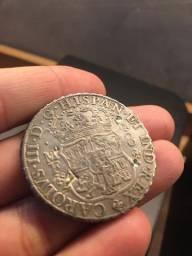 Lindo 8 Reales Colunário 1765 - Chopmarks Raríssima