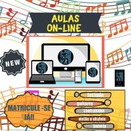 Aulas de Violão, Ukulele, Teclado, Guitarra e Contra Baixo Online