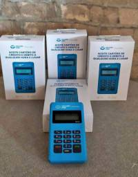 Máquina de cartão de crédito e débito.
