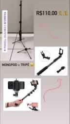 Tripé + Monopod 1,2metros