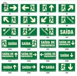 Placas de sinalização, orientação e salvamento