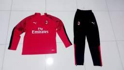 Conjuntos agasalhos Puma do Milan,Borussia Dortmund e Olympique de Marseille