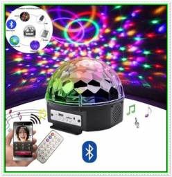 Bola Maluca Laser Globo Festa Bluetooth Led Pendrive Mp3