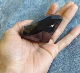 Diamante preto 8cm (vidro) para fotos de unhas ou decoração.