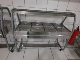 Carrinho aquecido self service