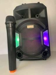 Caixa de Som 2000W Bluetooth ES802 + Microfone sem fio valor promocional aproveite !