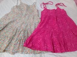 2 Vestidos Tamanho 10 e 8