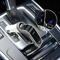 AUTOMOTIVO/Transmissor Digital FM CarG7 Veicular Sem Fio com Bluetooth e USB<br><br>