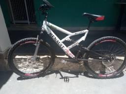 Bicicleta suspensão dupla aro26