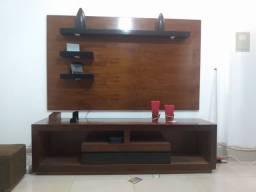 Painel e cômoda de madeira legítima