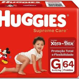 Fralda Huggies Supreme Care, 64 Unidades