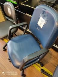 Cadeira de Escritório Azul Giratória