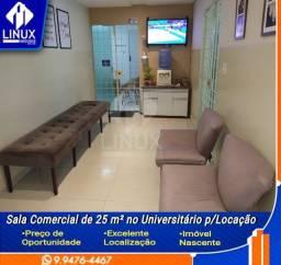 Sala Comercial de 25m2 para Locação no Universitário em Caruaru/PE