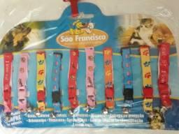 Cartela De Coleiras com Guizo Para Cães e Gatos Com 10 Unidades