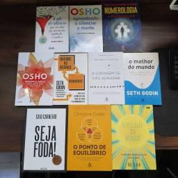 Kit de 10 Livros de Auto Ajuda e Mindfulness