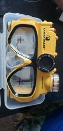 Óculos de mergulho com câmera