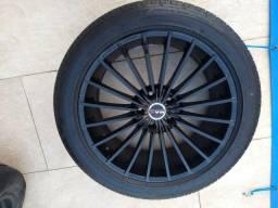 Vendo jogo de rodas aro 19 furacão 5x114 + pneus