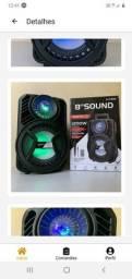 Caixa  de  som  1200W ALP 885C/bluetooth    e  microfone